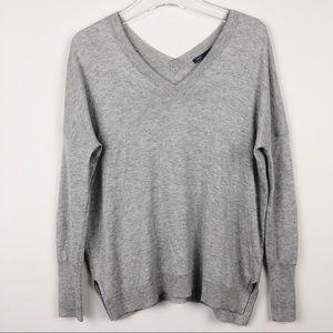 Vince V Neck Silk Cashmere Blend Sweater